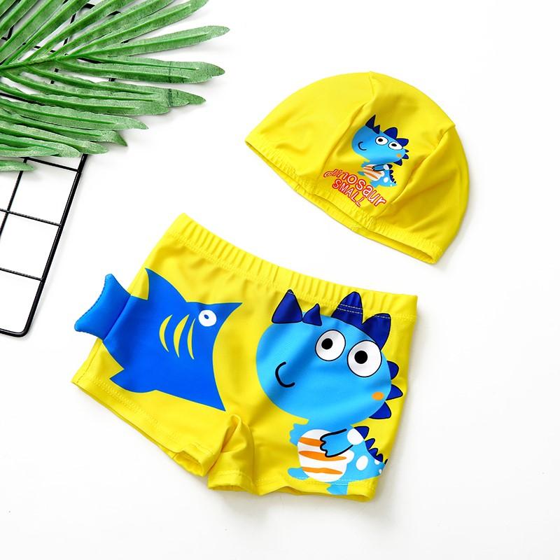儿童泳裤男童游泳衣卡通平角速干小童宝宝泳衣中大童男孩韩国温泉
