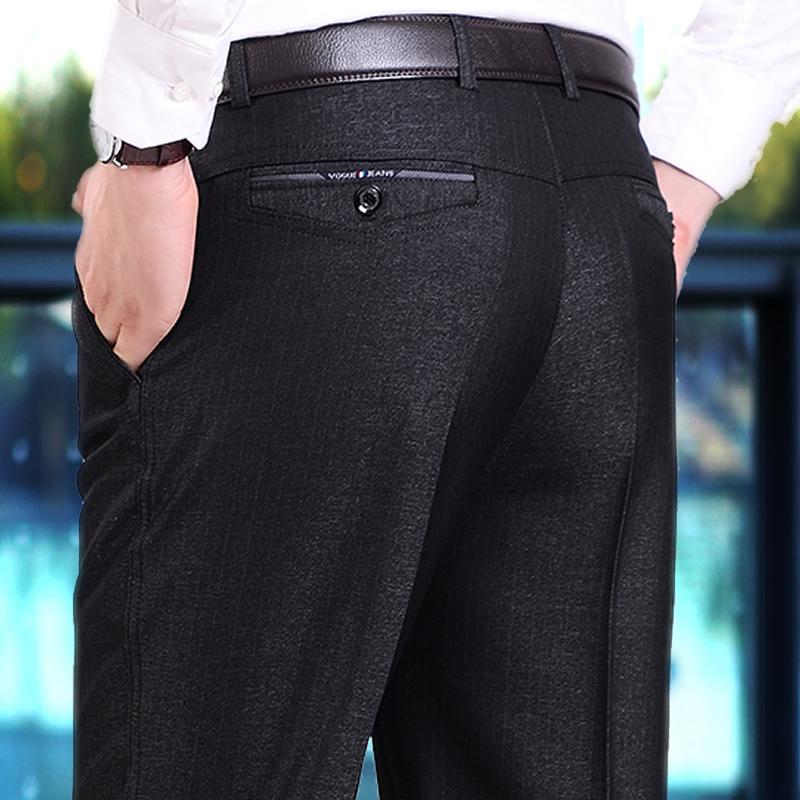 中年休闲裤男士加绒加厚款秋冬季中老年人宽松爸爸西裤子40-50岁