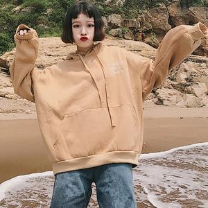 250斤大码女装冬装卫衣女韩版潮bf加绒加厚胖mm2017新款冬超大号