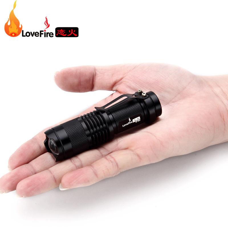 LED迷你强光手电筒CREE Q5超小微型变焦远射可充电随身便携小手灯