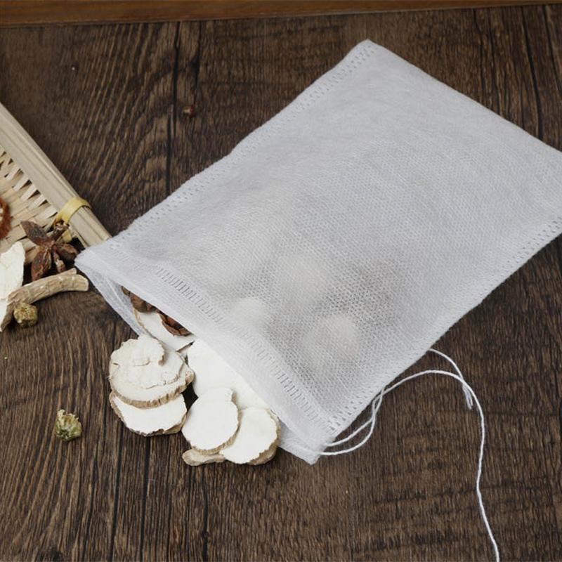 100个12*16cm无纺布煎药袋茶包袋过滤袋大料包隔渣袋一次性卤料包