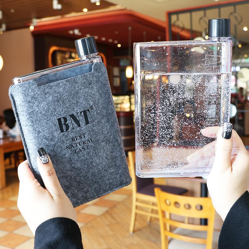Memo韩国潮纸张水杯个性便携扁平A5纸片时尚水瓶定制创意广告杯子