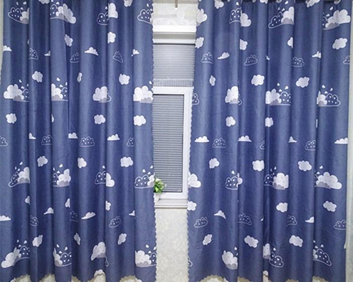 租房飘窗短帘半帘小窗帘布料卧室宿舍半遮光成品特价清仓包邮