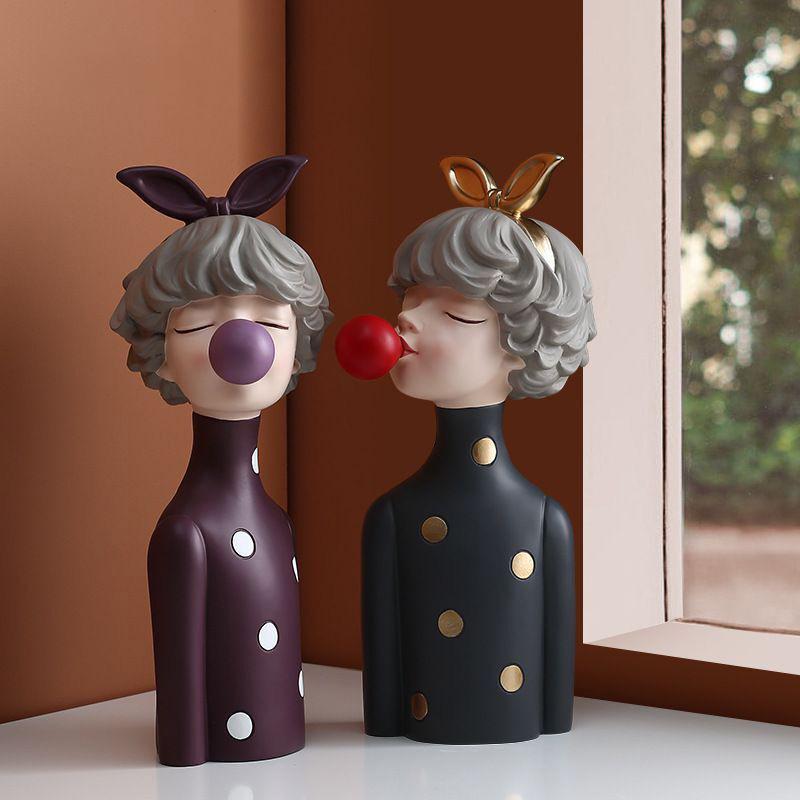 泡泡女孩摆件北欧创意家居客厅卧室现代简约装饰品结婚女生日礼物