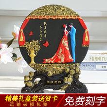 送朋友结婚礼物炭雕婚庆礼品li10婚房摆gt订婚送礼创意定制
