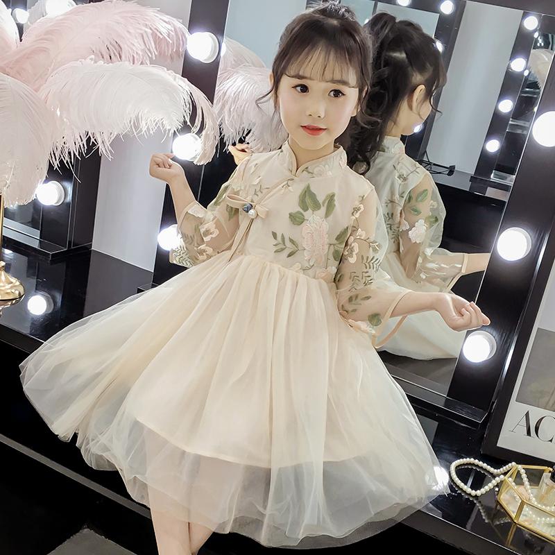 六一儿童节女童汉服夏改良唐装女复古装套装中国风童装套装端午节