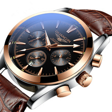 Guanqin authentic watch men's automatic mechanical watch watch waterproof steel belt fashion trend non-quartz men's watch
