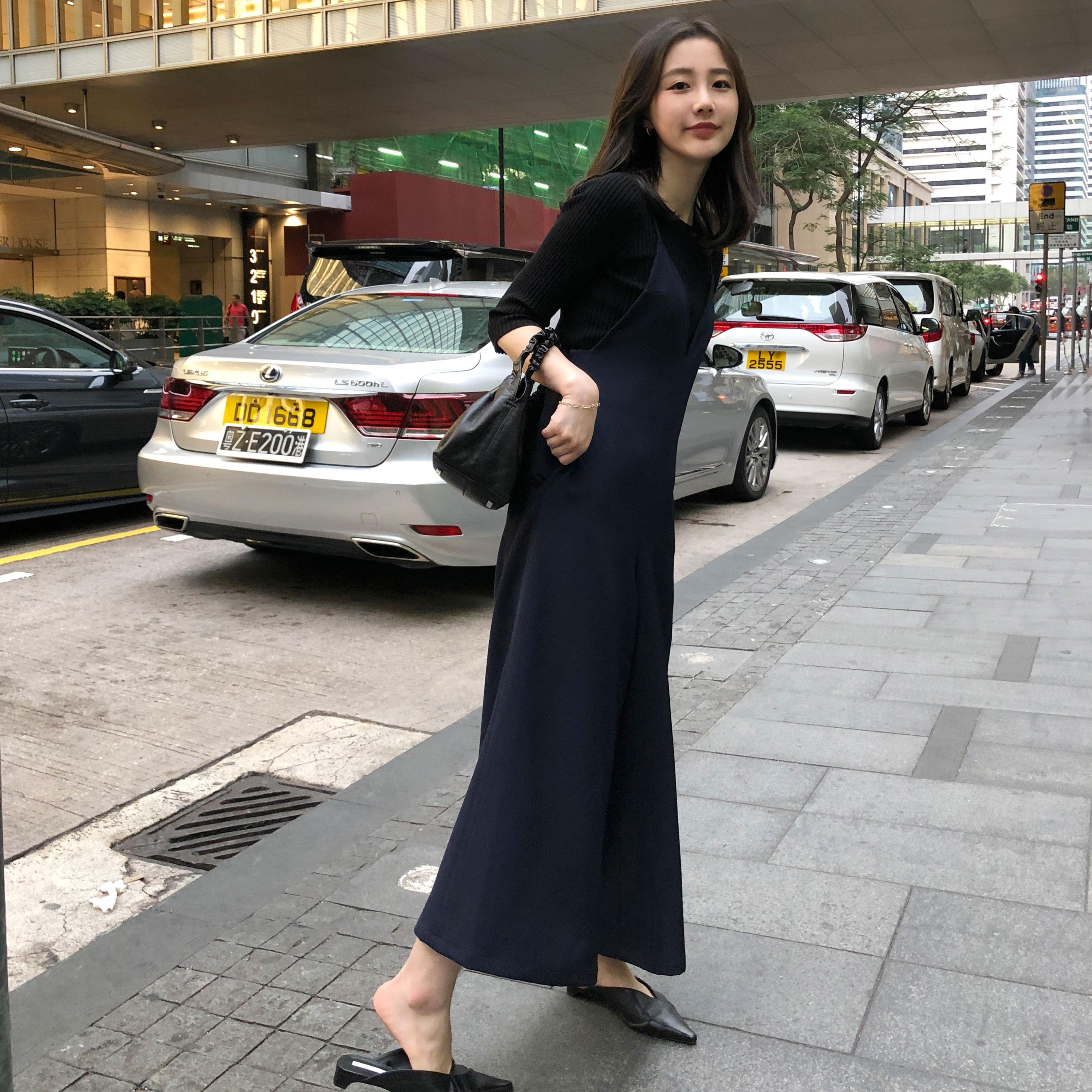 sundaymerry 18春夏|花瓣型吊带垂感阔腿连体裤女夏