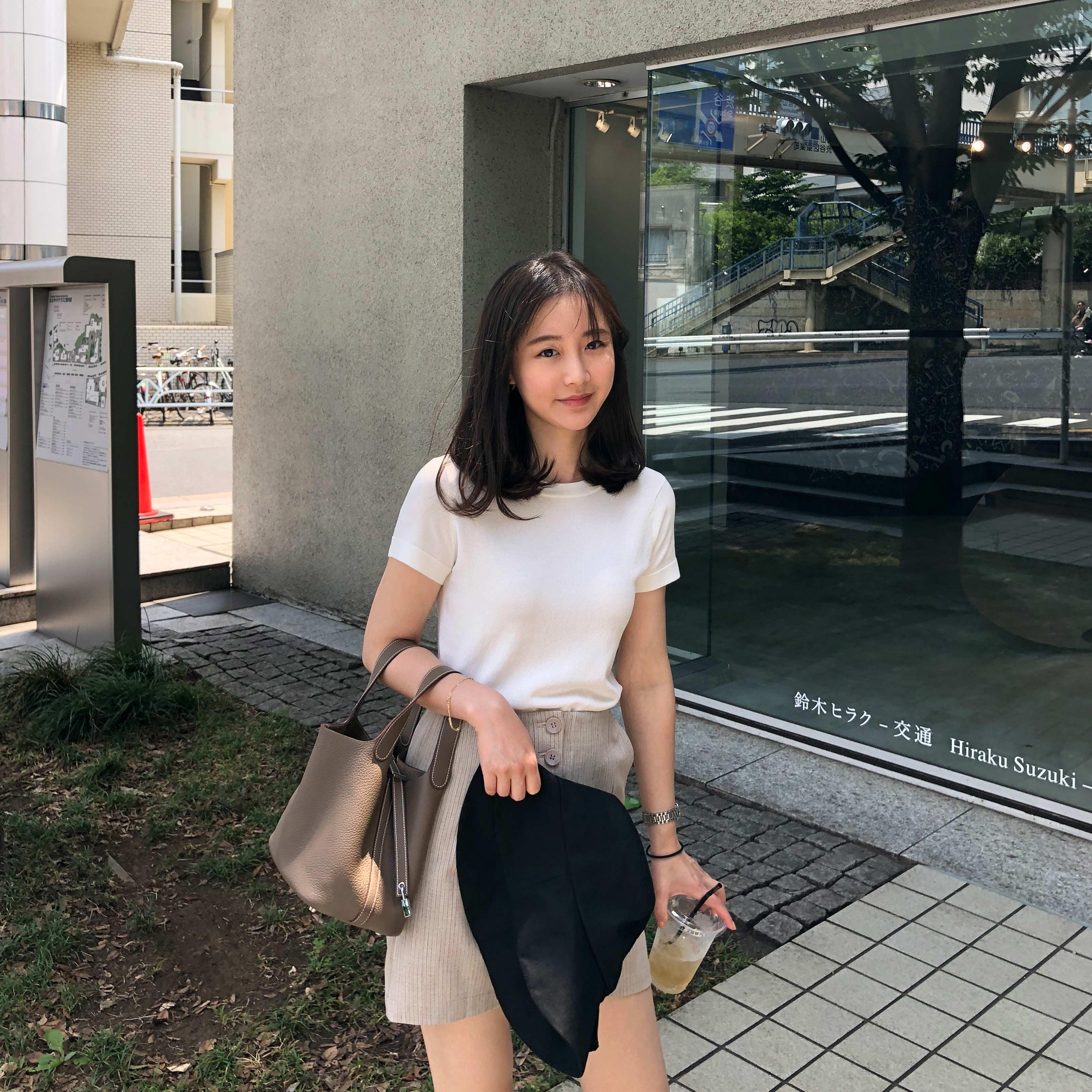 sundaymerry 18夏|jade针织冰丝短袖女夏圆领修身