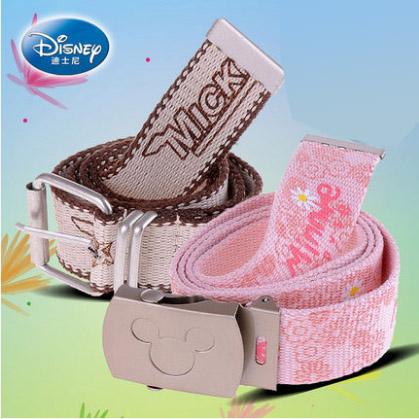 迪士尼学生男女儿童款米奇儿童幼儿园宝宝休闲皮带时尚裤腰带包邮