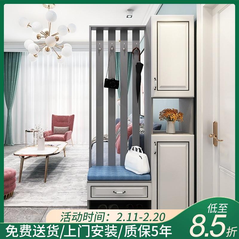 欧式进门鞋柜玄关柜一体现代简约家用门口玄关屏风隔断客厅轻奢柜