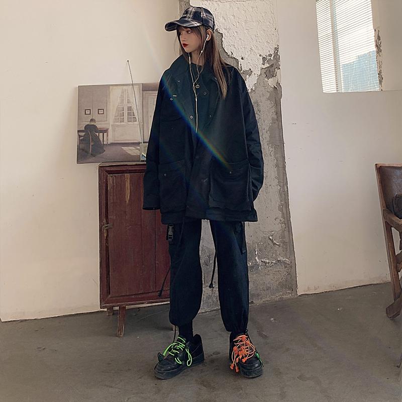 2020年春装新款工装外套韩版宽松港风夹克百搭情侣装-思宇服饰-