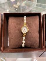日本直邮代购agete 经典淡水珍珠手表人气款日韩女腕表轻奢简约