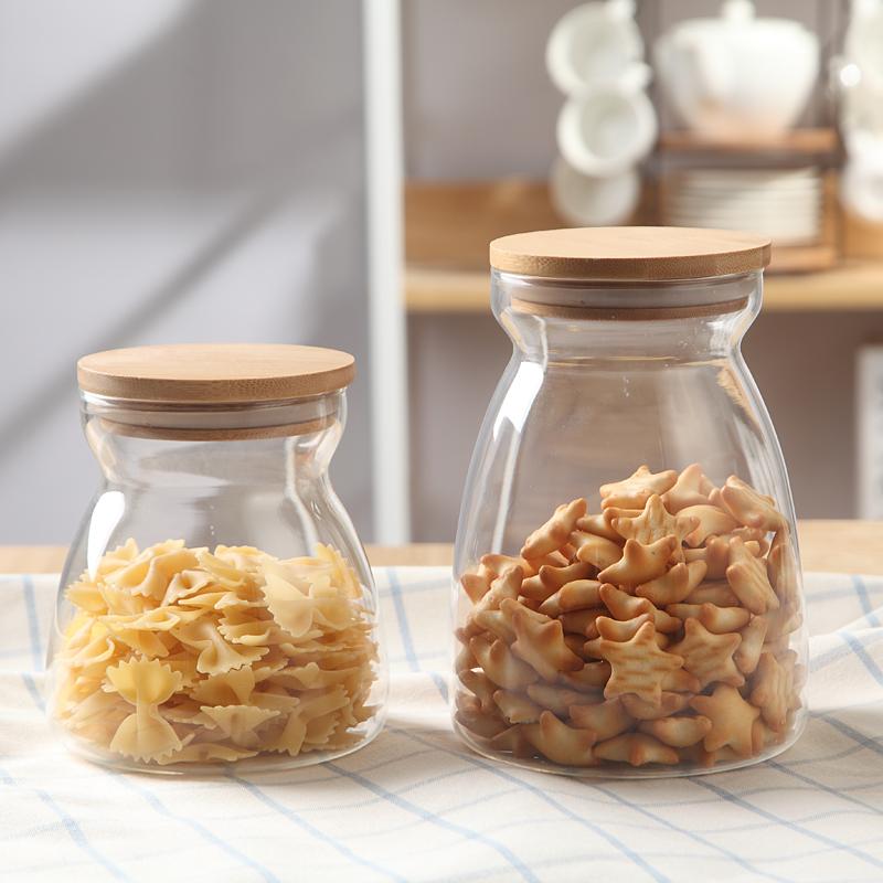 点恒兔玻璃密封罐蜂蜜柠檬玻璃储物瓶奶粉茶叶酵素瓶花茶叶食品