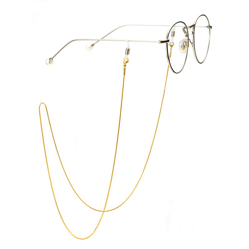 【刘亦凡】手工眼镜挂绳眼镜链子不锈钢金属带高贵复古自然坠感