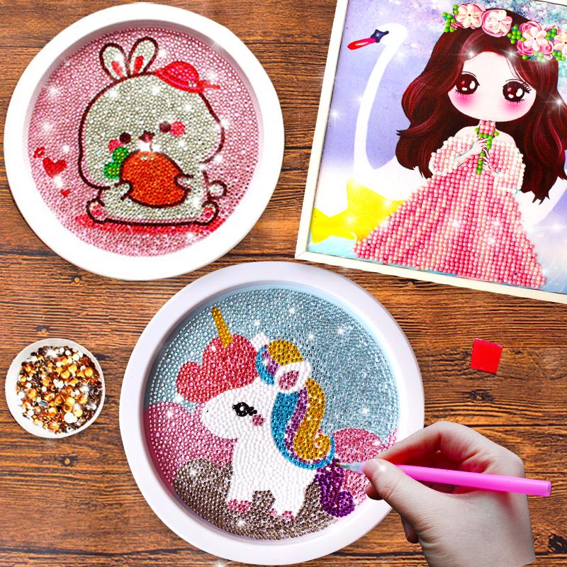 儿童钻石贴画 手工diy制作材料包水晶女孩女童益智玩具作品礼物