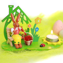 Package post Easter Bunny hand painted Bunny Candlestick decorations children's gifts