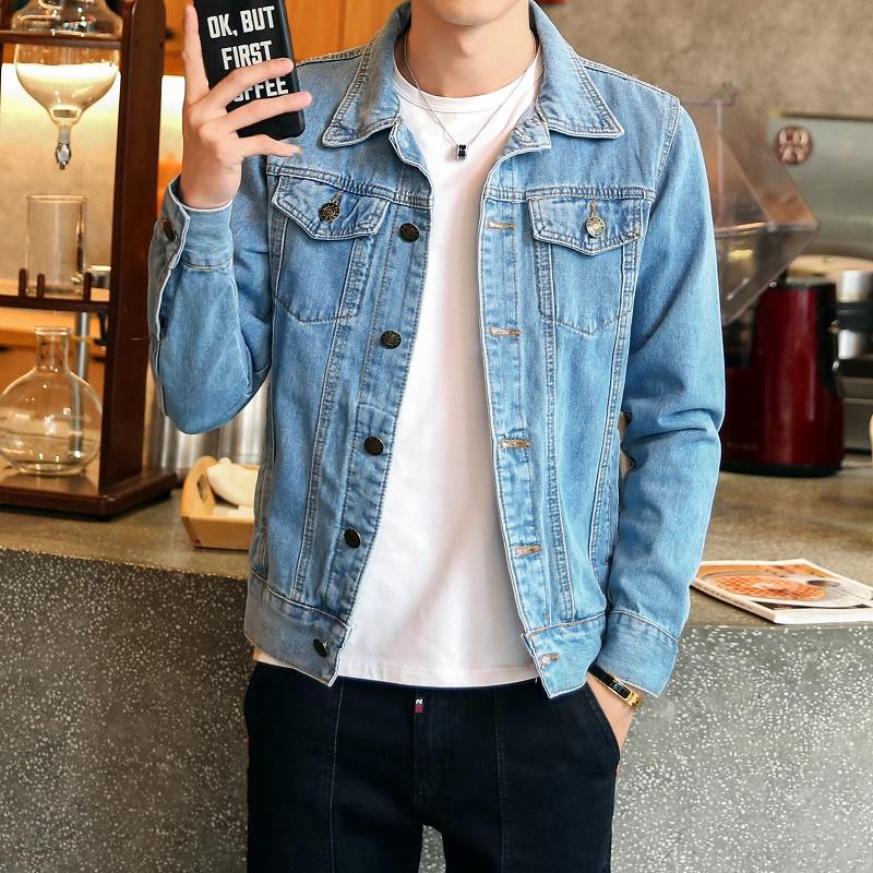 2019春季牛仔外套男士新款韩版修身夹克学生大码牛仔衣服男装潮流