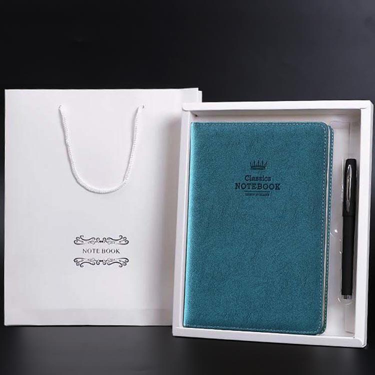 创意a5笔记本定制logo高档笔记本套装皮面商务记事本礼盒带笔