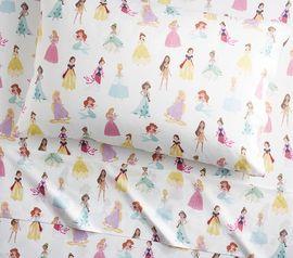 出口迪士尼公主四件套全棉贡缎被套床单枕套幼儿园三件套定制尺寸