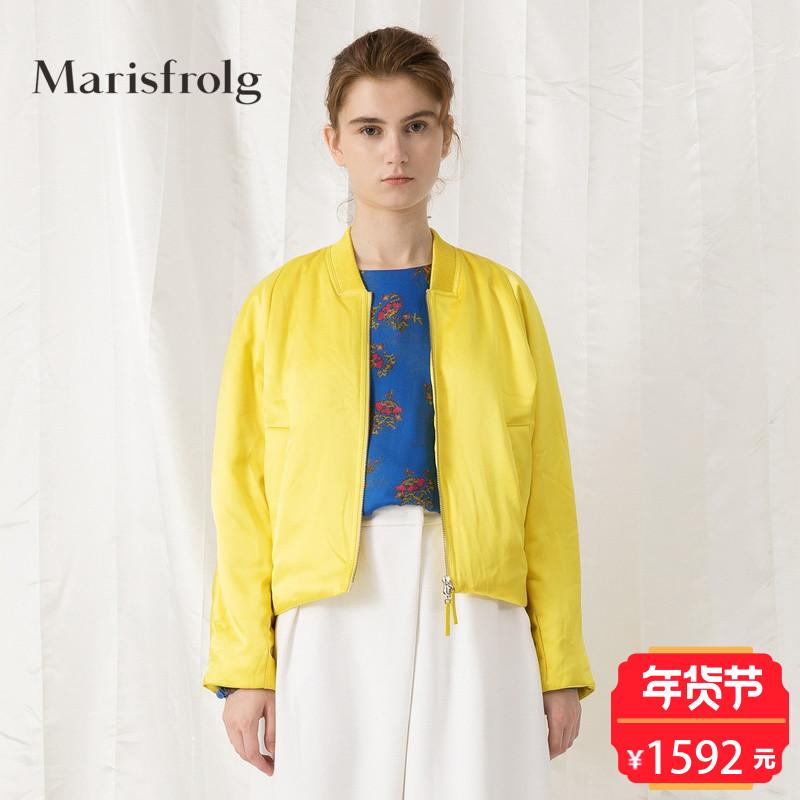 Marisfrolg/玛丝菲尔女装时尚夹克式羽绒服外套春装新款商场同款