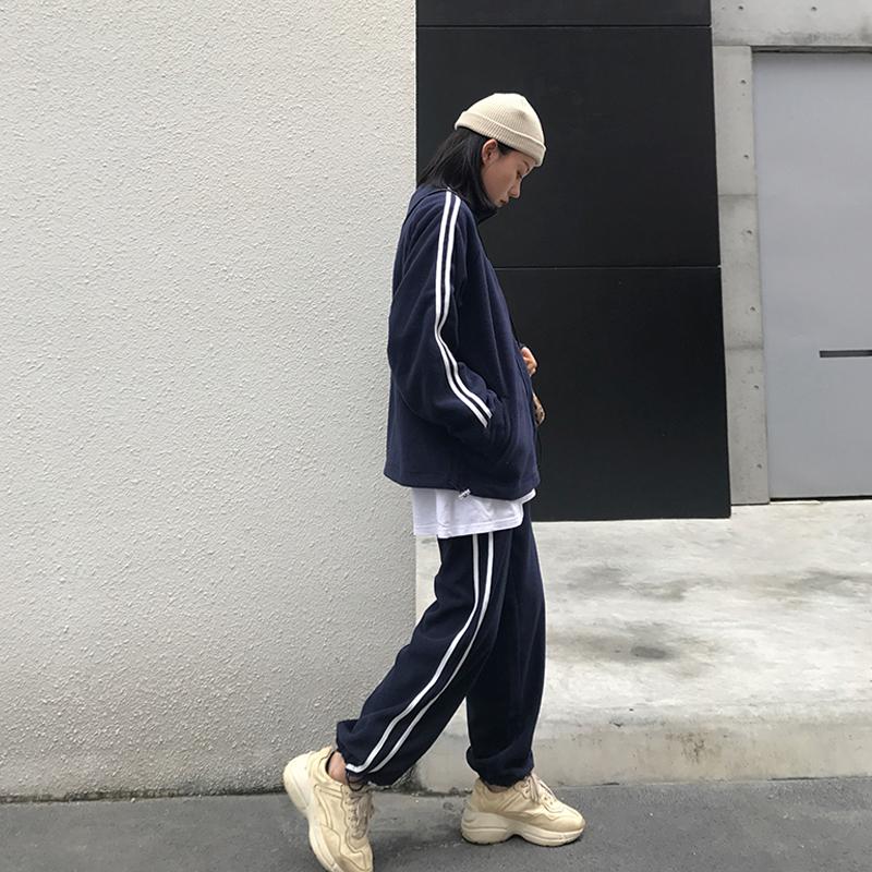 运动套装女秋冬2018新款港味chic宽松卫衣休闲长裤洋气网红两件套