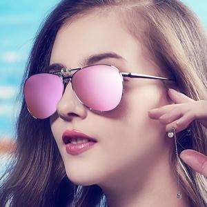 2018新款蛤蟆镜片偏光近视太阳镜夹片式墨镜男士开车女眼镜韩版潮
