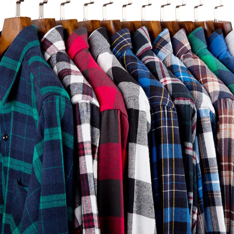 点击查看商品:春季新款磨毛格子棉衬衫男长袖青少年韩版休闲衬衣男装修身寸衫