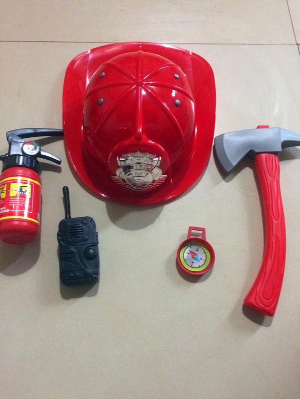 儿童消防员玩具道具帽子消防服套装玩具Cosplay 演出玩具万圣节演