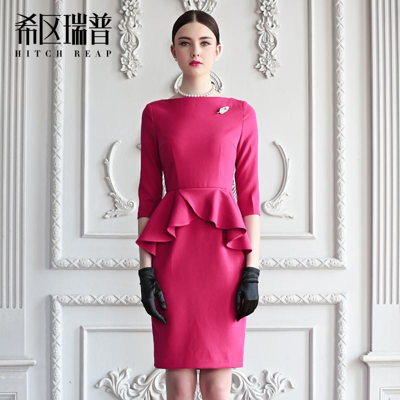 [转卖]希区瑞普 高端欧美时尚连衣裙OL复古气质蜂腰修身…