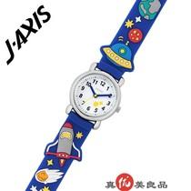 日本代购 J-AXIS 儿童款男孩航空宇宙飞船贴花休闲石英手表