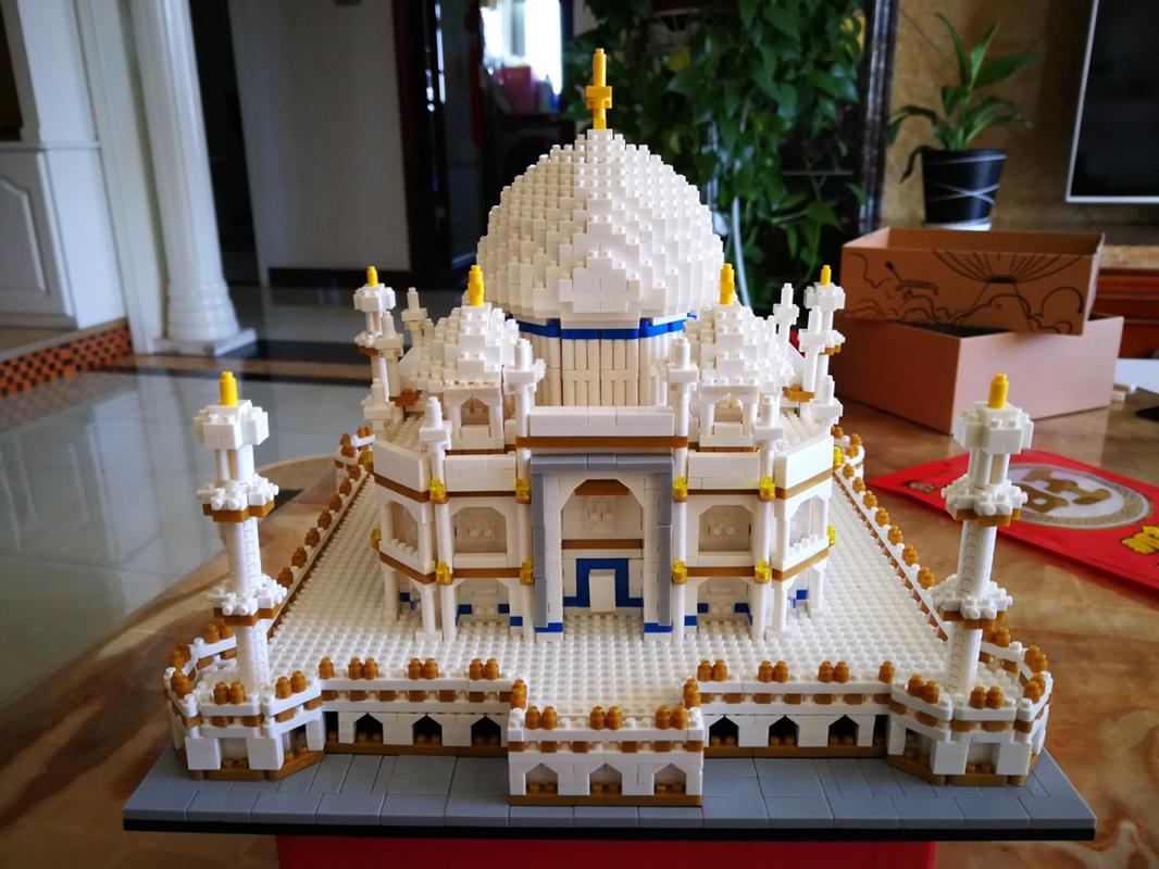 微型积木小颗粒泰姬陵模型兼容legao成人高难度建筑大型拼装玩具图片