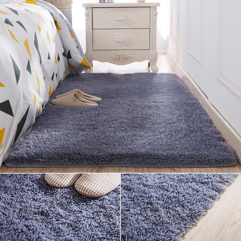长毛绒卧室床边铺地垫子网红宿舍少女心衣帽间地毯客厅茶几地板垫