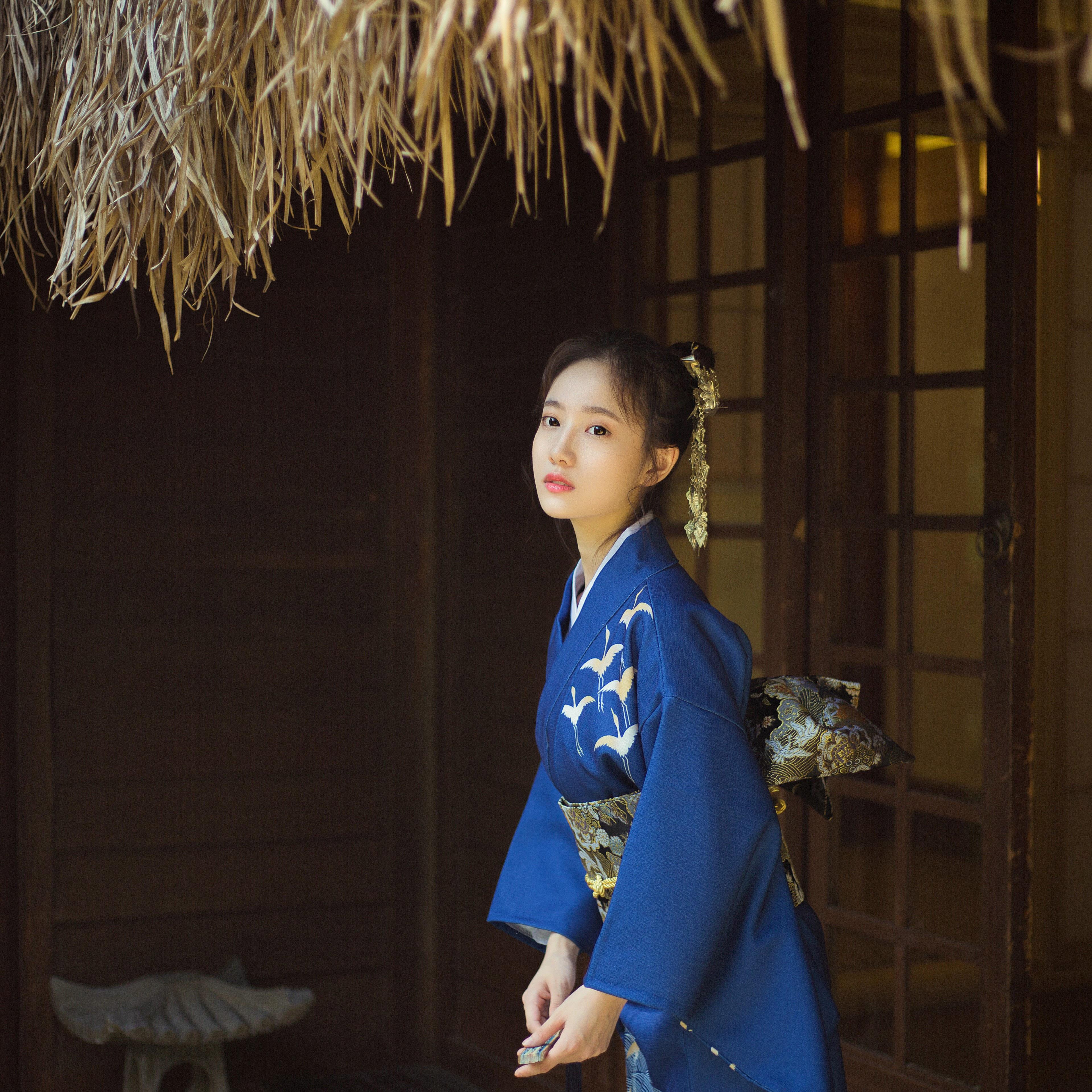 限时赏味日式和风浴衣古着风文艺复古少女连衣裙改良和服