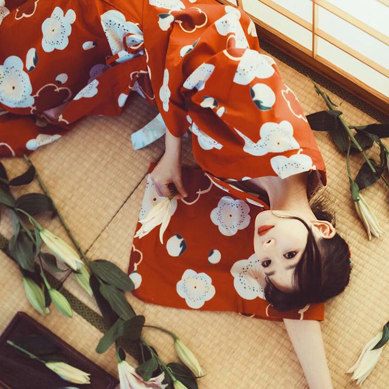 限时赏味日式和风浴衣可爱文艺复古少女连衣裙改良和服