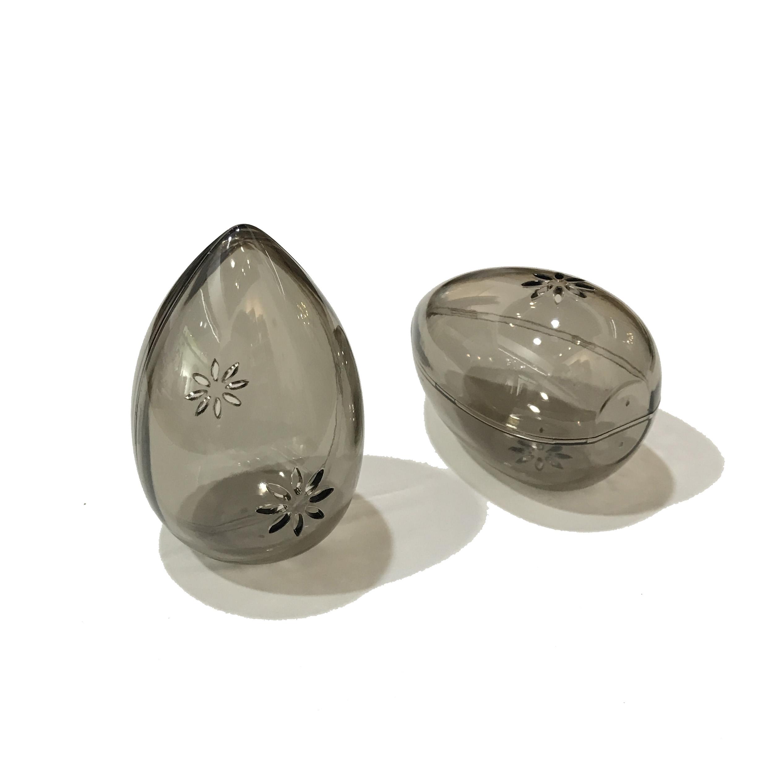 蛋壳。居家旅行必备透灰色透气防发霉用美妆蛋保护蛋壳PS塑料加厚