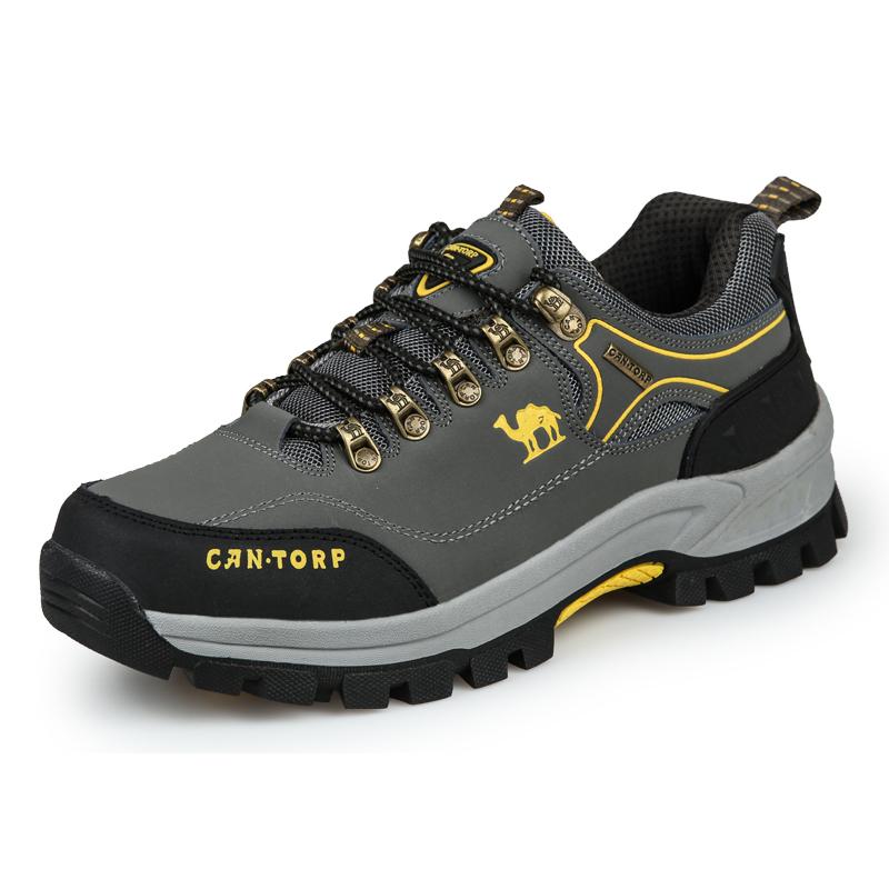 真皮登山鞋男女防滑户外徒步鞋春秋季防水低帮运动鞋耐磨旅游鞋潮
