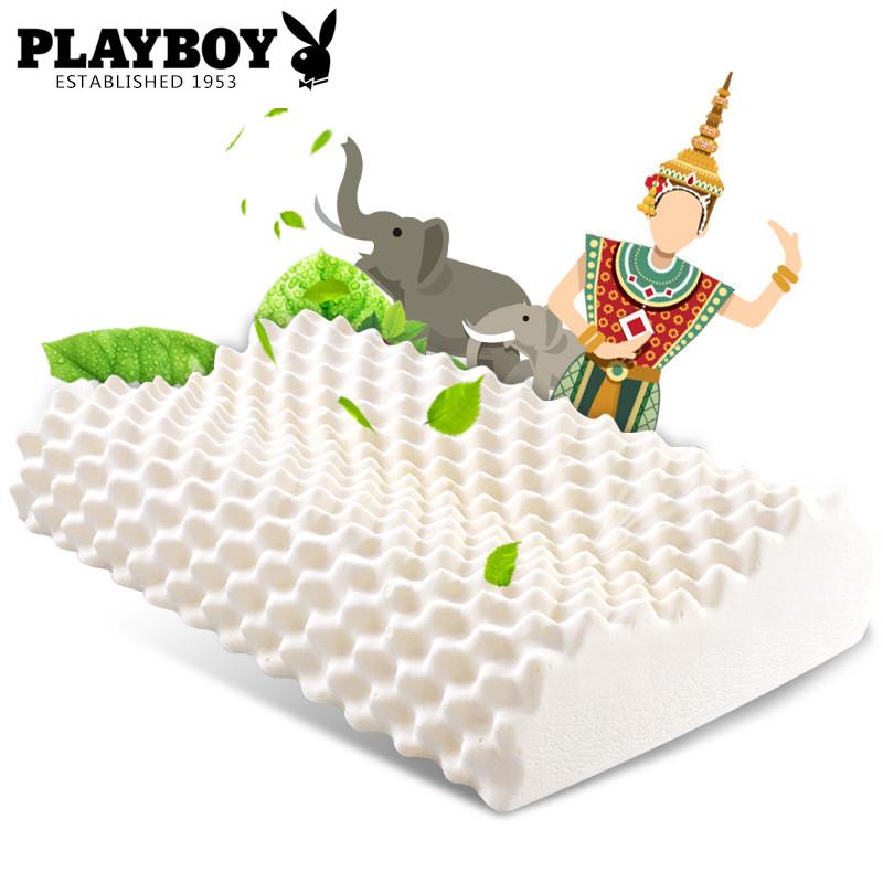 泰国乳胶枕护颈单人颈椎枕男橡胶记忆枕头单只成人女枕芯A