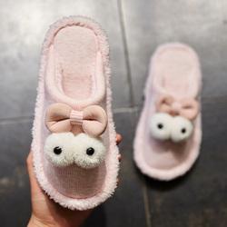 棉拖鞋女冬室内居家厚底防滑家用保暖情侣可爱卡通不包跟托鞋冬天