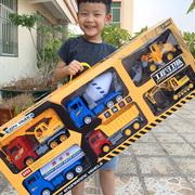 大号工程车儿童玩具男孩套装挖掘挖推土机洒水搅拌吊车各类小汽车