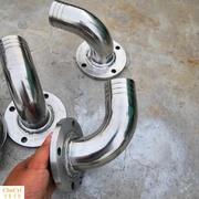 厂家定做不锈钢90度弯头法兰皮管接头潜水污水泵出水口排污泵接