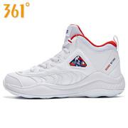 361女鞋运动鞋361度学生篮球鞋 白色高帮篮球鞋女款白色旅游鞋