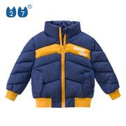童装男童保暖外套2020冬装韩版撞色中小童加厚棉衣洋气儿童棉袄