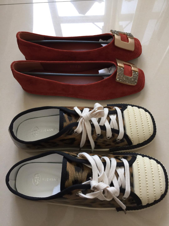 女鞋 瓢鞋船鞋40码 豹纹饼干头板鞋40码 都是全新的  鞋