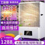 商铺洗浴工业暖风机烘干100v30平米送风热气加热热风机加温机吹风