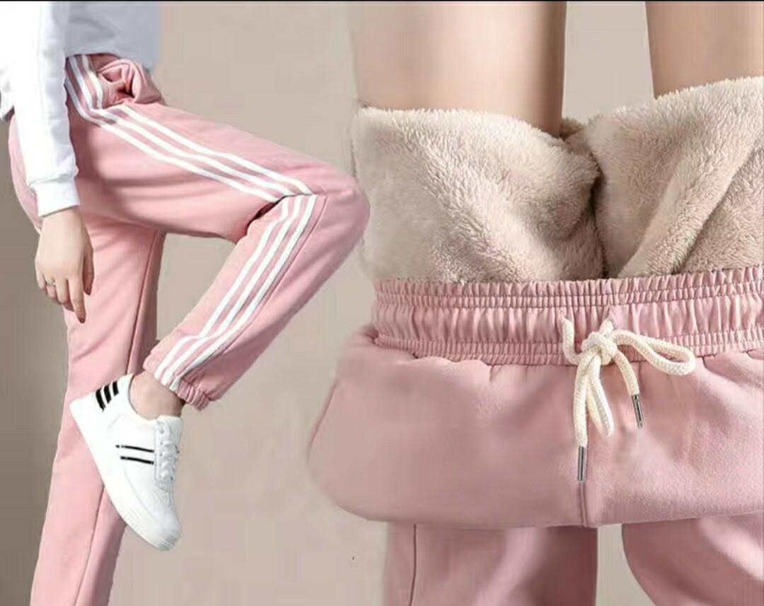 冬季韩版学生加绒外穿卫裤