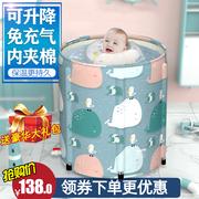 婴儿游泳池家用室内新生宝宝大号游泳桶儿童折叠保温洗澡桶免充气