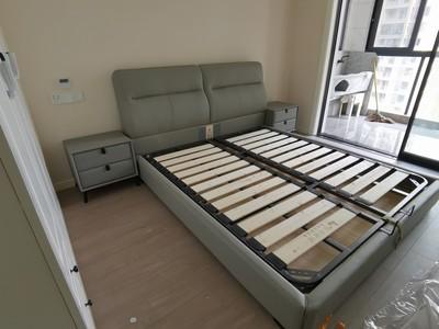 宜洛 意式轻奢真皮双人大床1.8米主卧北欧高档现代简约软包床婚床