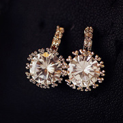 Mail fashion earring rhinestone zircon Crystal Stud Earrings Super Flash female temperament Korean ear jewelry new
