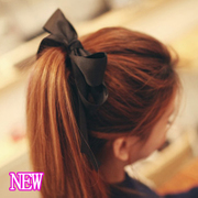 Know NI Korea sweet wide ribbon Super big Butterfly first tiara hair accessories hair band rope